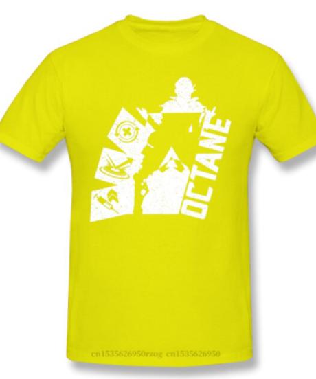 【備考欄要サイズ記載】APEX LEGENDS オクタンク キャラクターシルエット&ロゴ デザイン 半袖 メンズ Tシャツ S~6XL 選べる11カラー
