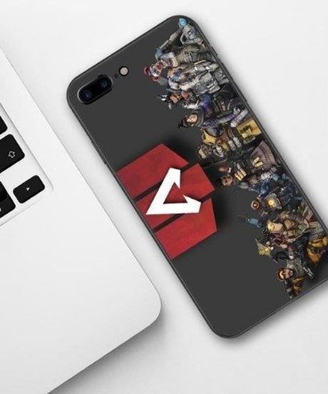 APEX LEGENDS ロゴ キャラクター 横タイプ デザイン ブラックベース シリコン TPU iPhoneケース 多機種対応