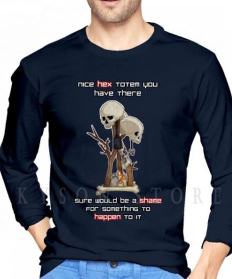 【備考欄要サイズ記載】Dead by Daylight  トーテム フロントプリント イラスト メンズ 長袖 Tシャツ ロンT  インナー  S~XXL 4カラー