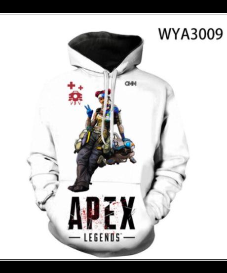 【備考欄要サイズ記載】APEX LEGENDS キャラクター スタイリッシュプリント フード付 長袖 パーカー キッズサイズ有 親子コーデ 100~3XL