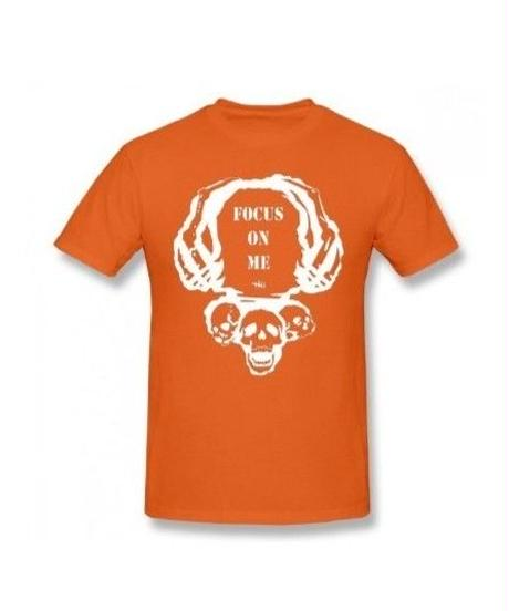 Dead by Daylight スカルイラスト 文字デザインシンプル 半袖 Tシャツ メンズ トップス 春夏 100%コットン S~6XL オレンジ