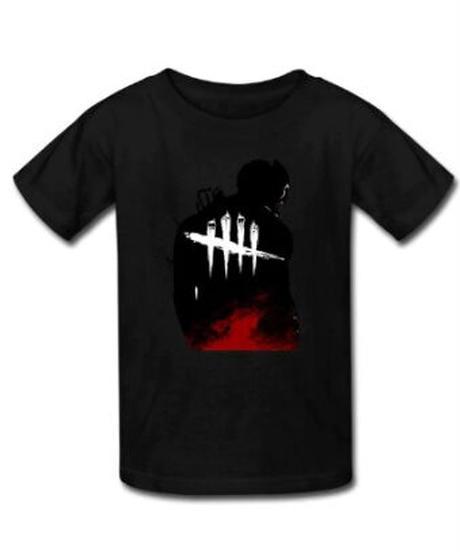 Dead by Daylight  ブラックカラー トラッパー バックスタイルプリント メンズ 半袖 Tシャツ インナー S~5XL