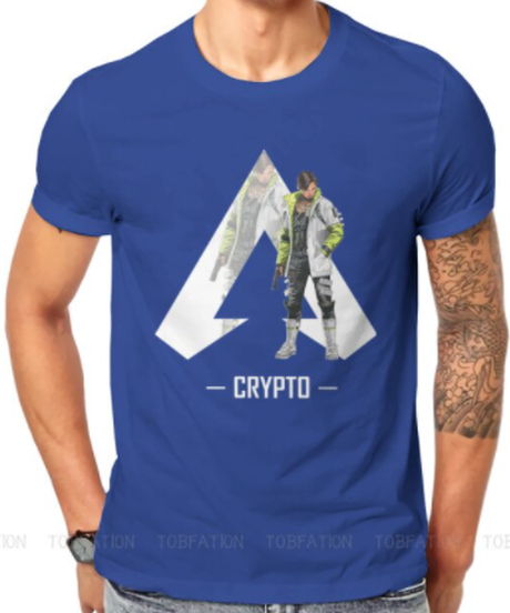 【備考欄要サイズ記載】APEX LEGENDS クリプト ロゴ&キャラクターデザイン 監視活動の達人 半袖 メンズ Tシャツ S~6XL 選べる11カラー