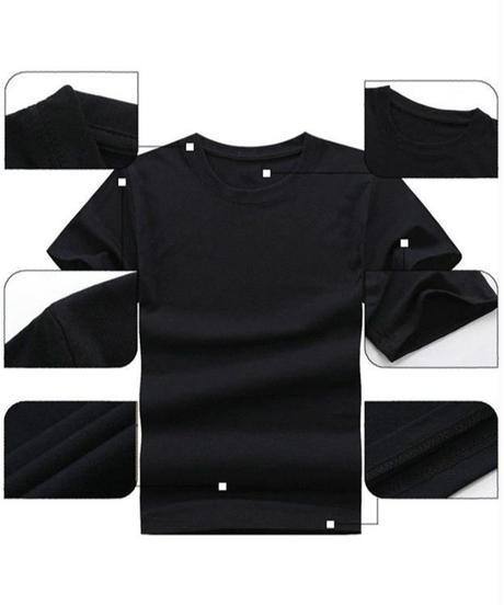 Dead by Daylight 5ライン ホラーテイスト イラストプリント 半袖 メンズ カジュアル Tシャツ S~XXXL ブラック
