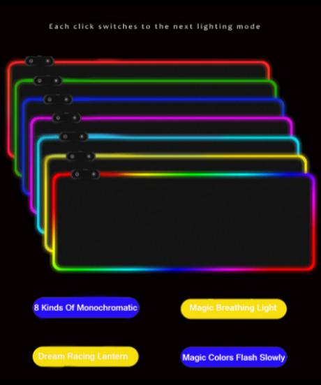 Dead by Daylight キラー ロゴデザイン LED発光 ゲーミング マウスパッド 300×700mm 選べる6柄