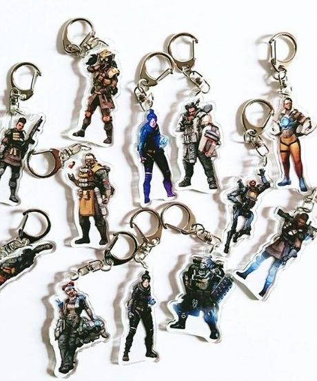 【12種選択可/期間限定】APEX LEGENDS アクリル キャラクター キーホルダー セット購入で無料プレゼント