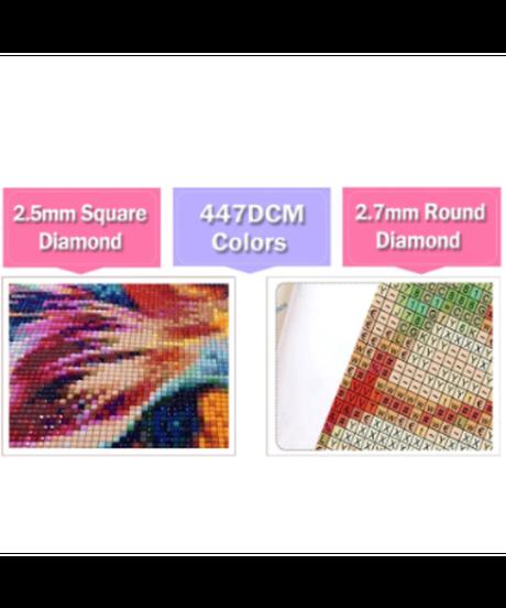 ラウンド・スクエア ダイヤモンドアート 40×50cm 中型 おもちゃ屋さん カラフル お店 作成キット