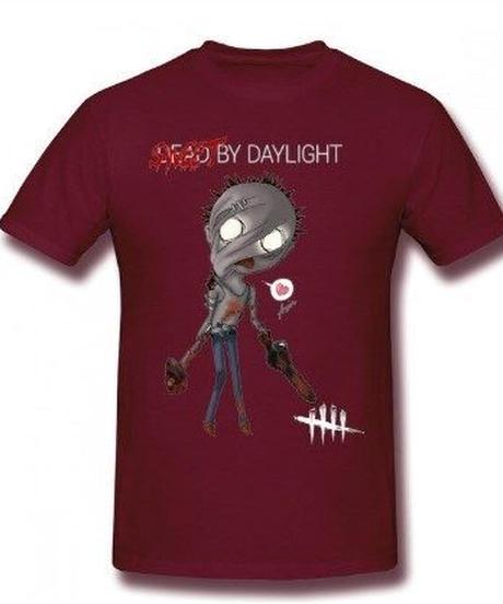 Dead by Daylight デフォルメ キャラクタープリント 半袖 Tシャツ キラー ヒルビリーデザイン Oネック コットン S~6XL ブラウン