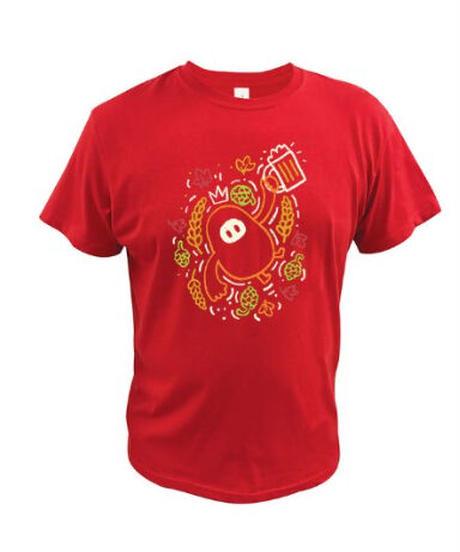 【備考欄サイズ要記載】Fall Guys フォールガイズ フルーツ&ビール ユニーク キュートプリント メンズ 半袖 Tシャツ 選べる5カラー S~XXL