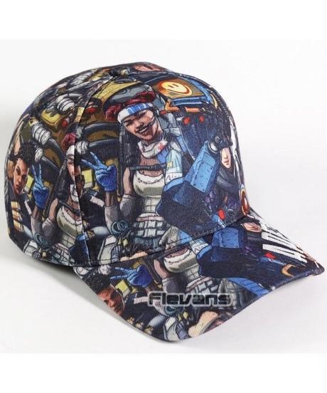 APEX LEGENDS イラスト 文字プリント カジュアル ベースボールキャップ 大人用 コットン 野球帽 総柄