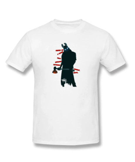 【備考欄要サイズ記載】Dead by Daylight  ハントレス シルエット モノクロ フロントプリント イラスト メンズ 半袖 Tシャツ インナー S~6XL 12カラー