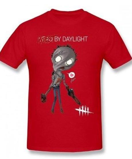 Dead by Daylight デフォルメ キャラクタープリント 半袖 Tシャツ キラー ヒルビリーデザイン Oネック コットン S~6XL レッド