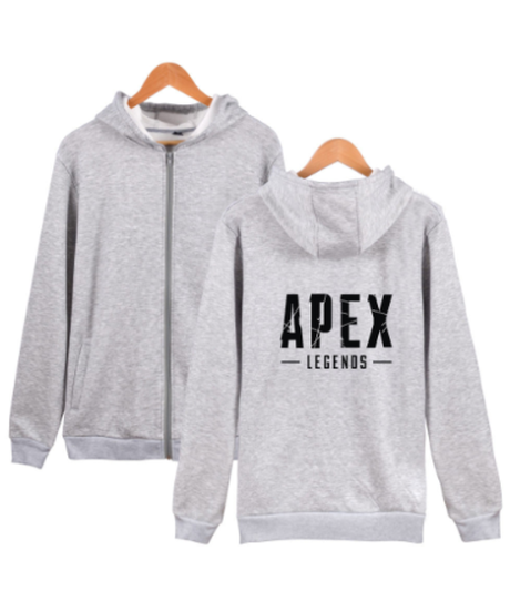 【備考欄要サイズ記載】APEX LEGENDS ロゴ フロントプリント フード付 長袖 ジップアップ パーカー 選べる5カラー