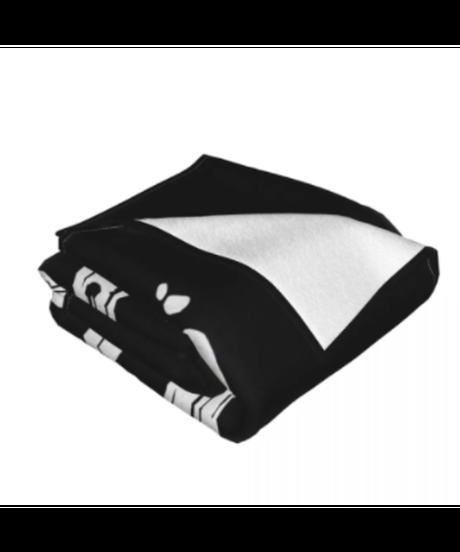 Dead by Daylight ロゴデザイン シンプル フランネル毛布 ブラックカラー ブランケット 選べる3サイズ