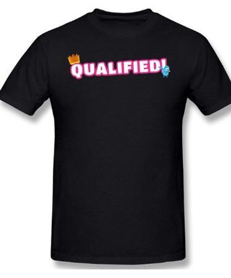 【備考欄サイズ要記載】Fall Guys フォールガイズ Qualified 文字プリント 半袖 ユニセックス Tシャツ ルームウェア シンプル 選べる11カラー S~6XL