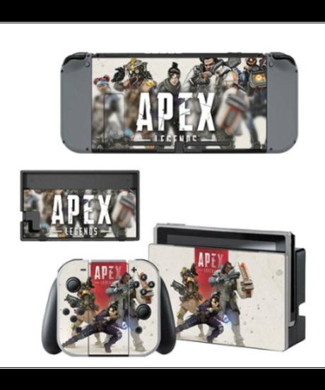 APEX LEGENDS 任天堂switch スキンシール 選べる9パターン スイッチ 汚れ防止 ゲームデザイン シール