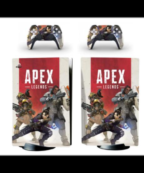 APEX LEGENDS ロゴ キャラクターデザイン PS5専用 スキンシール ボディ ステッカー プレステ5 装飾3枚セット 6柄