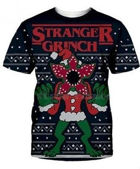 Dead by Daylight キラー デモゴルゴン クリスマスデザイン ユニーク フロントプリント 半袖Tシャツ メンズ 男性用 XS~7XL ブラック