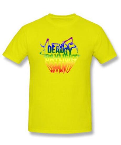 【備考欄要サイズ記載】Dead by Daylight  レインボーカラー ロゴ スタイリッシュデザイン 半袖 メンズ Tシャツ 9カラー S~6XL