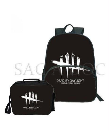 Dead by Daylight 5ラインロゴ バックパック&クーラーバッグ 2点セット ブラックカラー シンプル 大容量 2個セット