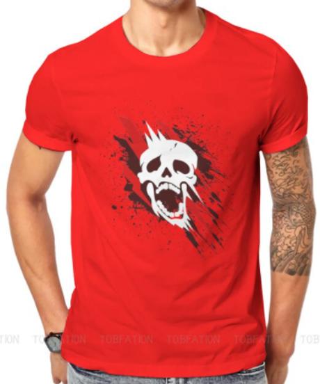 【備考欄要サイズ記載】Dead by Daylight  スカル ホラーテイスト フロントプリント イラスト メンズ 半袖 Tシャツ インナー サマーウェア S~6XL 12カラー