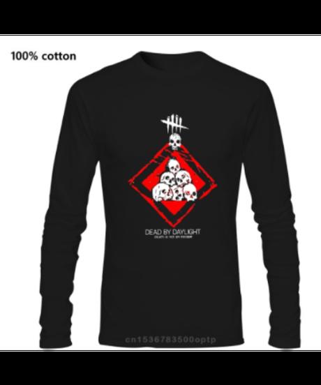 【備考欄要サイズ記載】選べる9カラー Dead by Daylight パーク ノーワン フロントプリント 長袖Tシャツ ユニセックス コットン ロンT  XXS~4XL