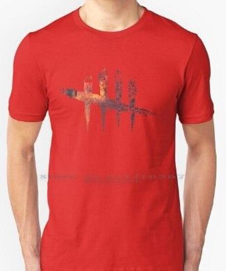 【備考欄要サイズ記載】Dead by Daylight  背景 ロゴデザイン クール メンズ 半袖 Tシャツ S~6XL 大きいサイズ対応 6カラー