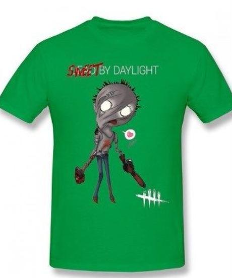 Dead by Daylight デフォルメ キャラクタープリント 半袖 Tシャツ キラー ヒルビリーデザイン Oネック コットン S~6XL グリーン