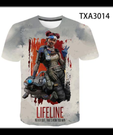 【備考欄要サイズ記載】APEX LEGENDS キャラクター フロントプリント 半袖 Tシャツ トップス 男女兼用 100~4XL 選べる9柄