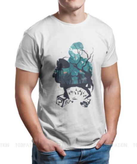 【備考欄要サイズ記載】APEX LEGENDS ミラージュ キャラクターデザイン シルエット 背景プリント 半袖 メンズ Tシャツ S~6XL 選べる11カラー