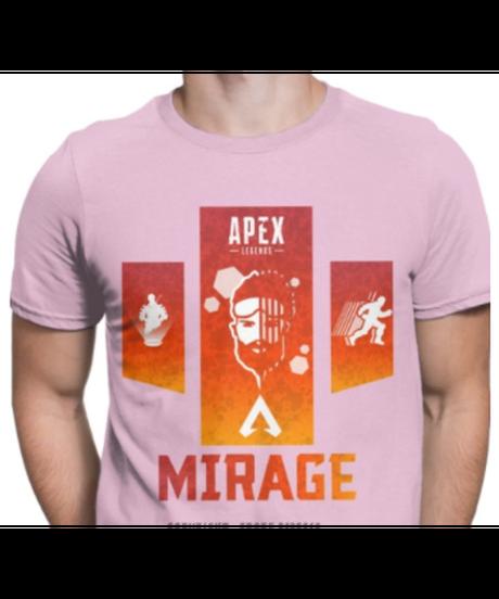 【備考欄要サイズ記載】APEX LEGENDS ミラージュ 選べる9カラー 半袖 カジュアル メンズ Tシャツ 夏服 インナー XS~XXXL