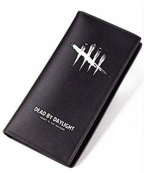 Dead by Daylight ゲームロゴ ロングウォレット PUレザー 財布 男女兼用 シンプル ブラック