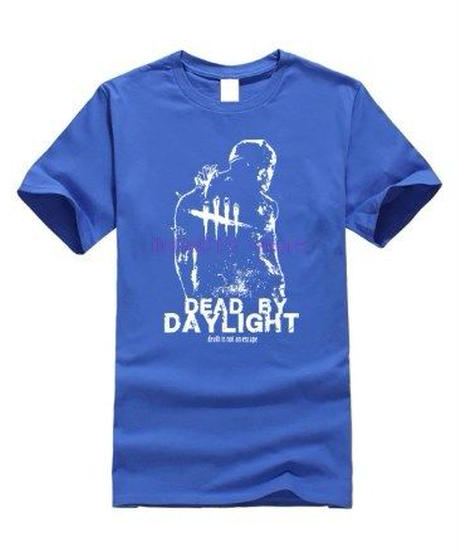 Dead by Daylight トラッパー キラー&ロゴ フロントプリント シンプル デザイン メンズ 半袖Tシャツ 3Dプリントトップス S~XXXL
