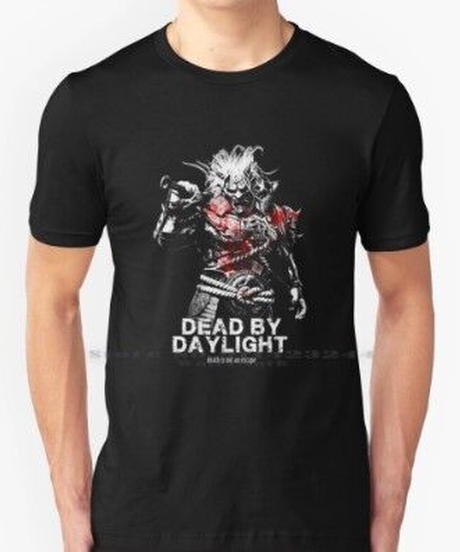 Dead by Daylight  キラー 鬼 山岡崋山 大迫力 モノクロ  フロントプリント イラスト メンズ 半袖 Tシャツ インナー S~6XL 選べる8カラー
