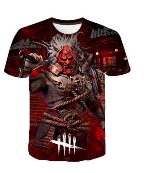 【備考欄要サイズ記載】Dead by Daylight  各種キラー フルプリント 大迫力 半袖 メンズ Tシャツ 7タイプ XXS~4XL
