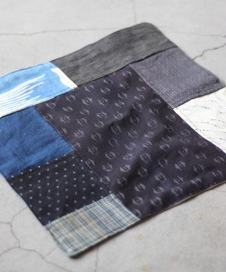 古布襤褸×鉄媒染(柿渋) リメイクのランチョンマット/籠掛け布