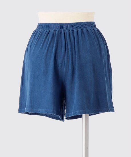 ORGANIC COTTON JERSEY SHORT PANTS / NUIT BLUE