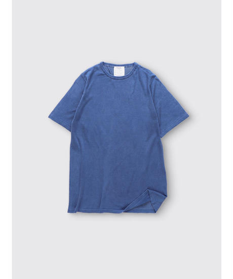 SILK KNIT T-shit / NUIT BLUE