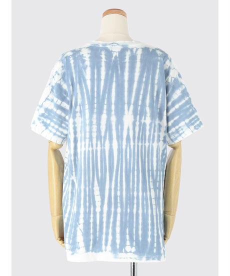 BLEACH PATTERN CREW NECK T-Shirt  / MATIN BLUE
