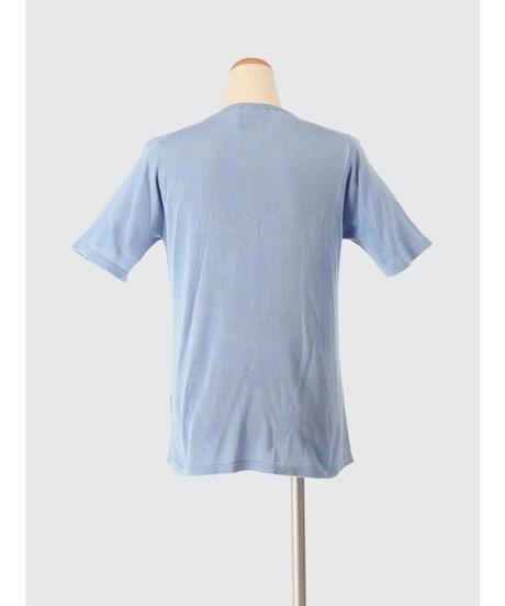 SILK KNIT T-shirt / MATIN BLUE