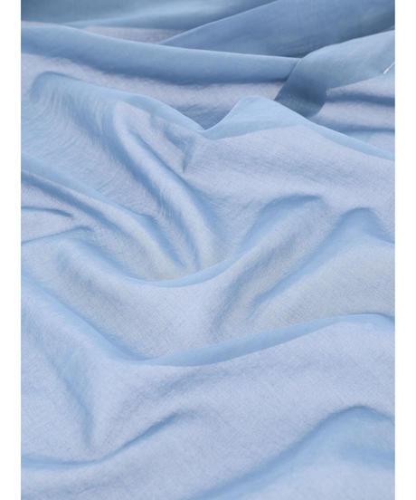 SEE-THROUGH WRAP SKIRT / MATIN BLUE