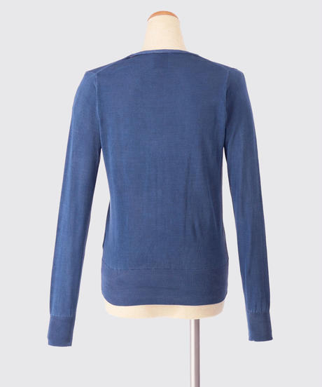 SILK KNIT CARDIGAN / NUIT BLUE