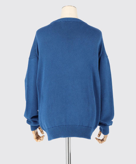 AMERICAN SEA ISLAND COTTON PULLOVER / NUIT BLUE / SIZE1