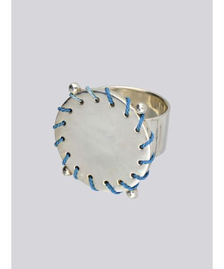 PONT-NEUF RING / SILVER×NUIT BLUE YARN