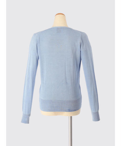 SILK KNIT CARDIGAN / MATIN BLUE