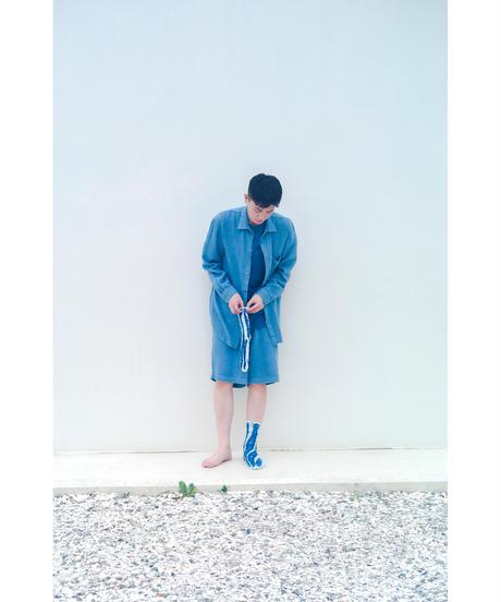 COTTON LINEN GAUZE SHIRT / MATIN BLUE