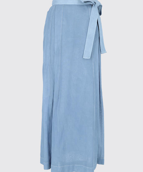 SEE-THROUGH WRAP SKIRT / MATIN BLUE