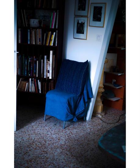 LINEN MULTI STOLE / NUIT BLUE