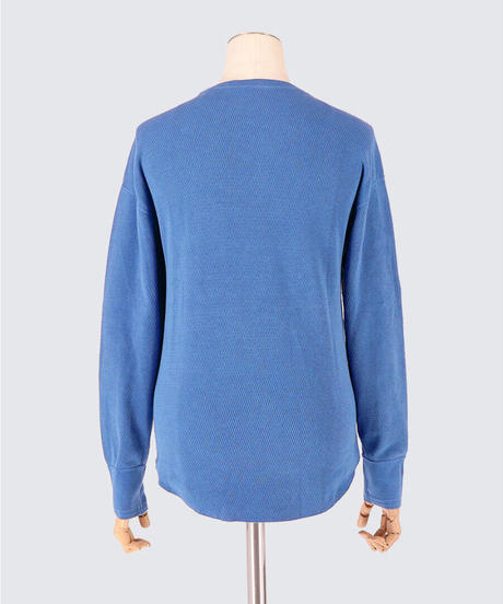 HONEYCOMB LONG SLEEVE PULLOVER / NUIT BLUE / SIZE1