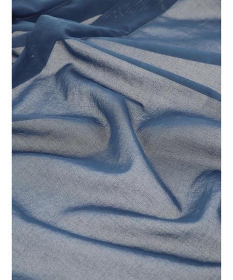 SEE-THROUGH WRAP SKIRT / NUIT BLUE